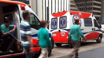 Ambulância com cobertura de eventos